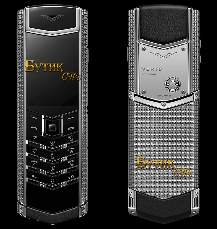 Vertu Signature S Desing Clous de Paris полированная сталь