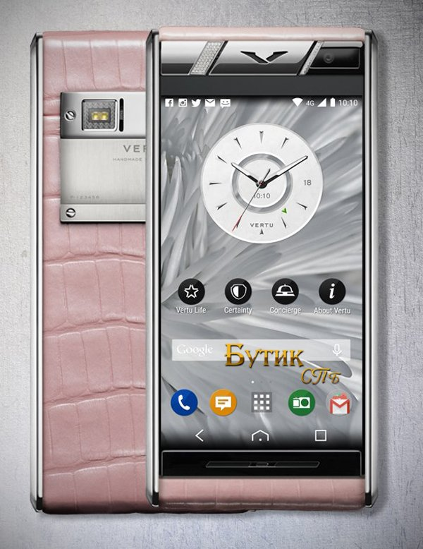 Vertu Aster Diamonds Pink Alligator розовая кожа аллигатора