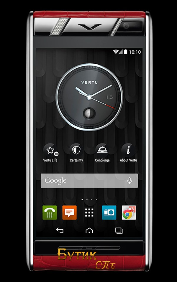 Vertu Aster Diamonds Red Alligator подарок к 8 марта